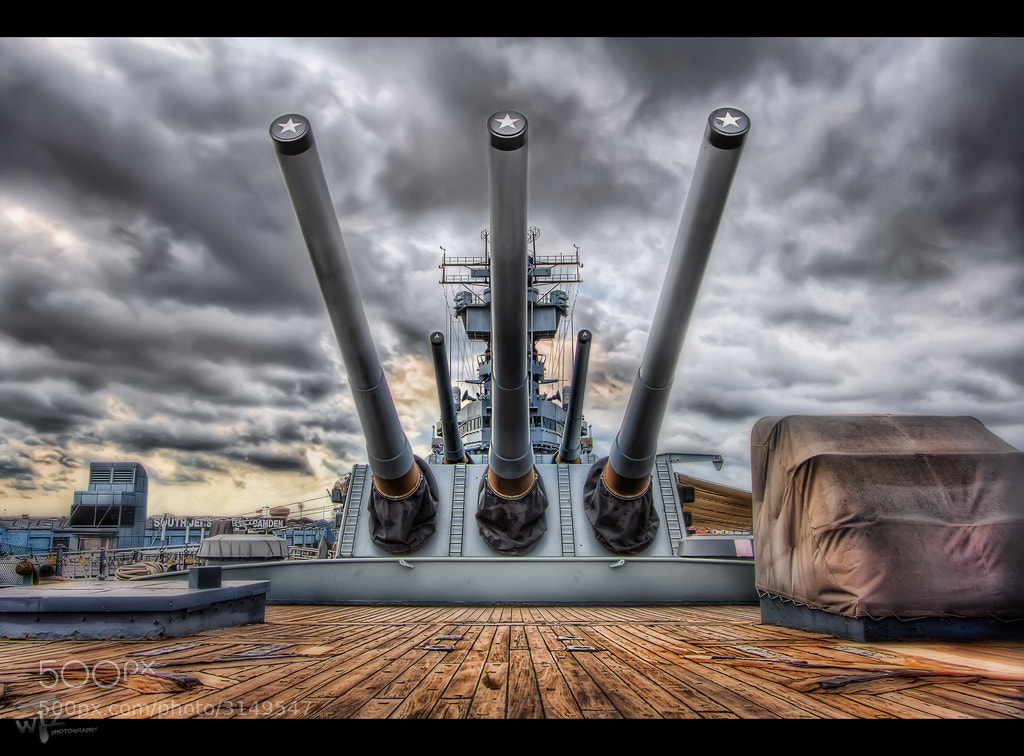 "Photograph 16 inch Guns of the ""Black Dragon"" by Michael Criswell on 500px"