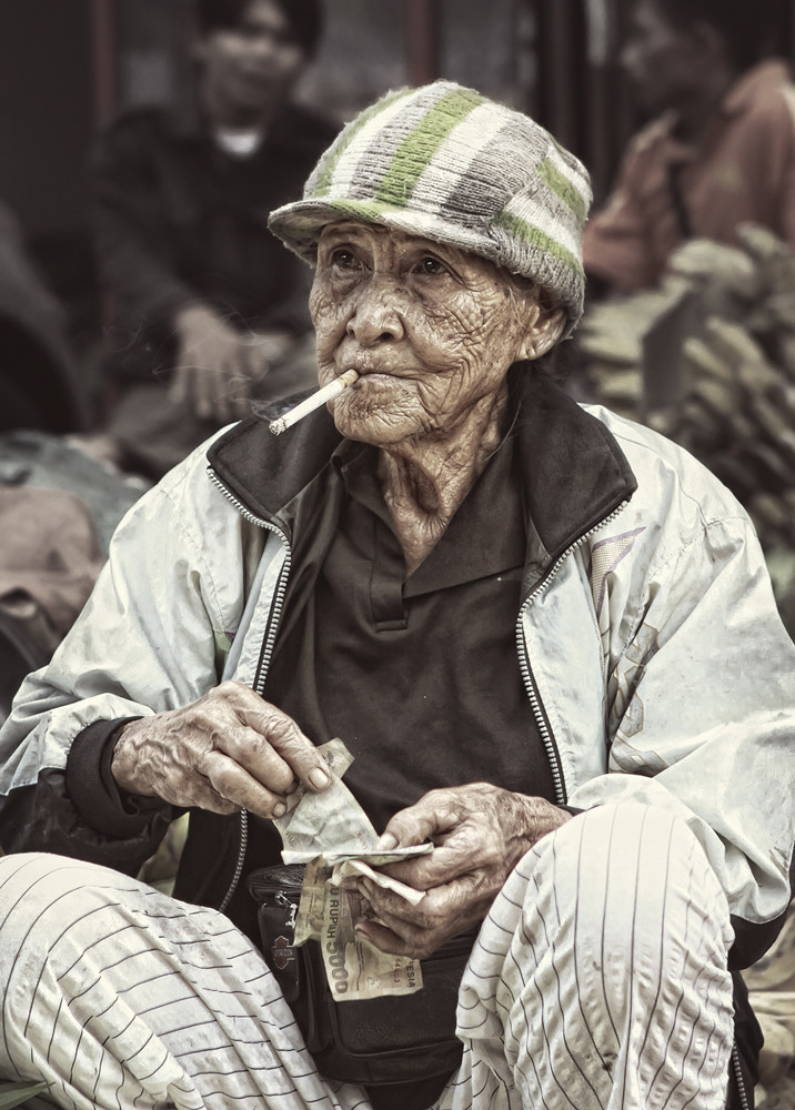 Photograph smoking old lady by christian ignatius setiawan on 500px