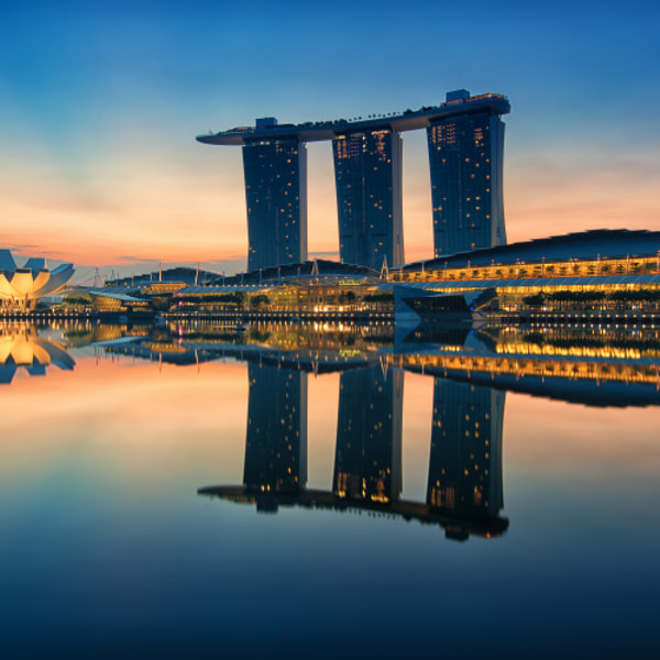 Dawn Hour at Marina Bay Sand