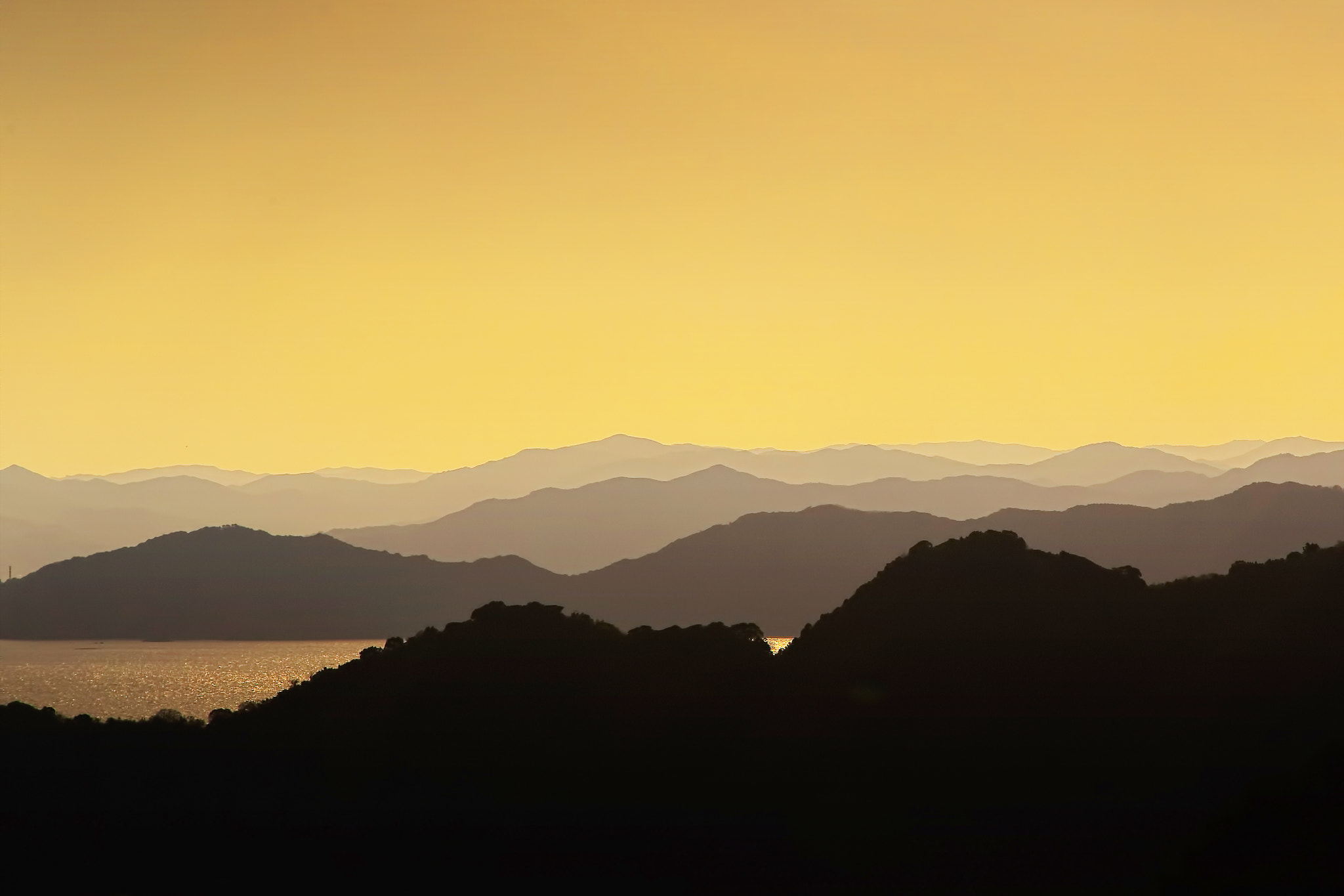 Photograph Mountains in sunset by MIYAMOTO Y on 500px