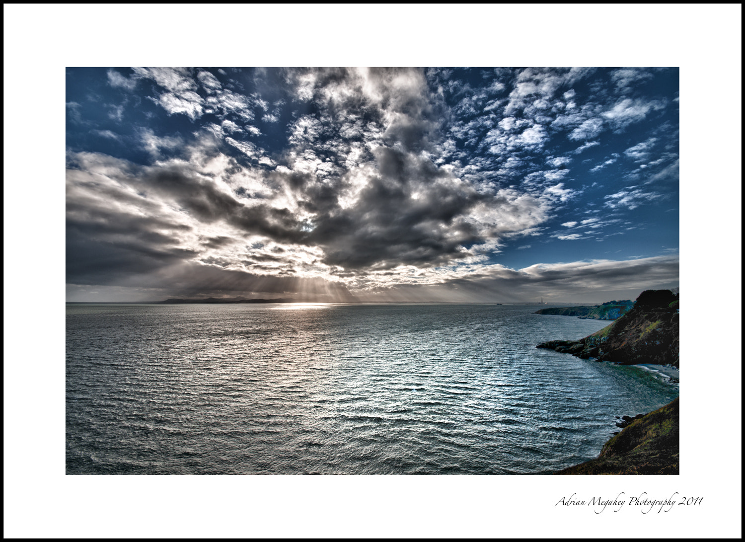 Photograph Sun & Sky over Dublin Bay by adrian megahey on 500px