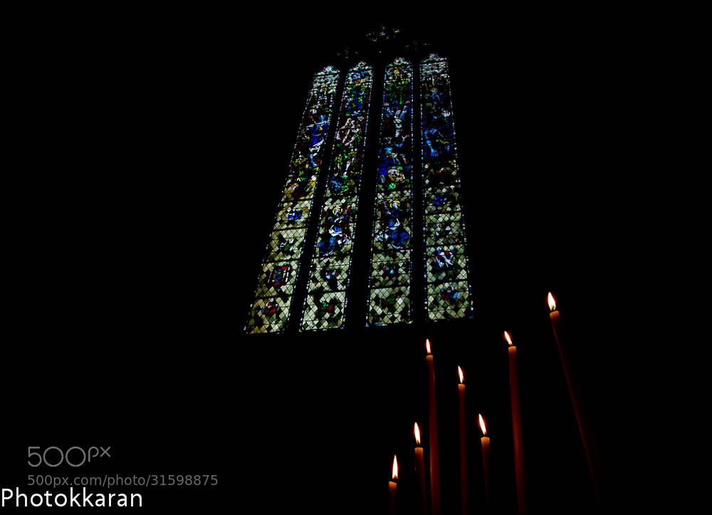 Photograph Candles and Stained Glass by Photokkaran PK on 500px