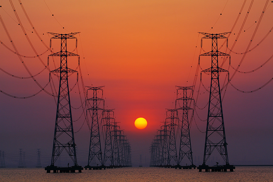 Photograph Between Power Towers by June Yeong on 500px