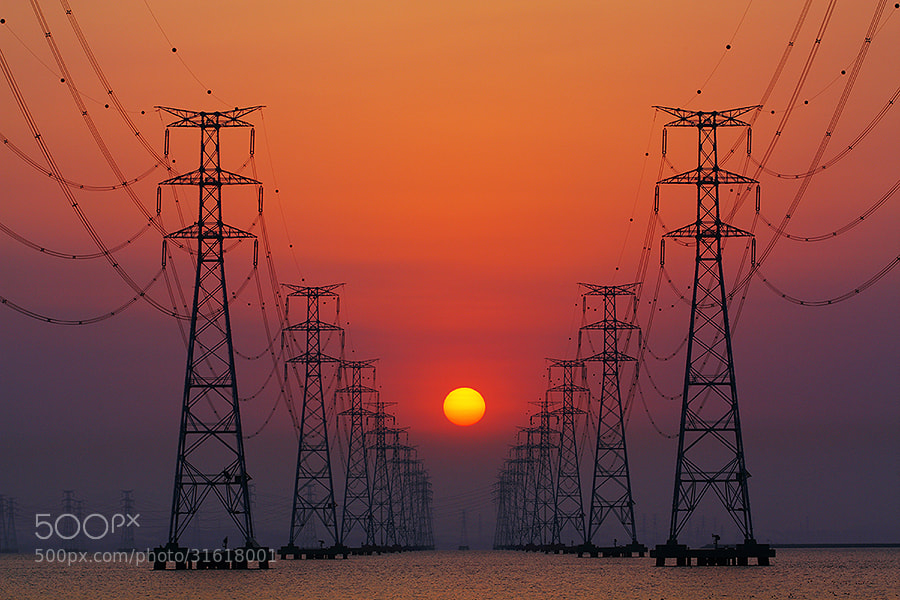 Photograph Between Power Towers by June Style on 500px