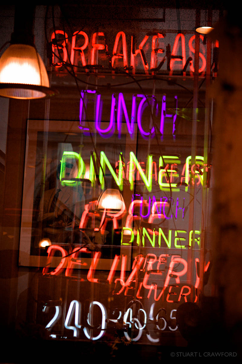 Photograph Diner Sign by Stuart Crawford on 500px