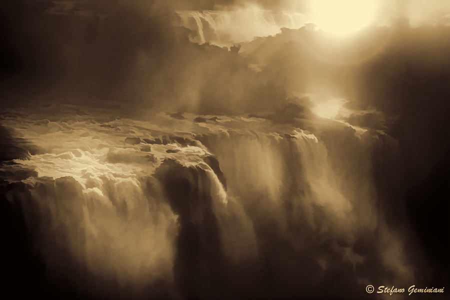 Iguazu Falls (Dramatic) by Stefano Geminiani on 500px.com