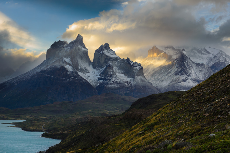 Photograph Sunset on Los Cuernos by Sylvain Guieu on 500px