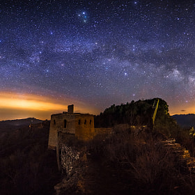 Milky Way above Simatai Great Wall by Isaac Si on 500px.com