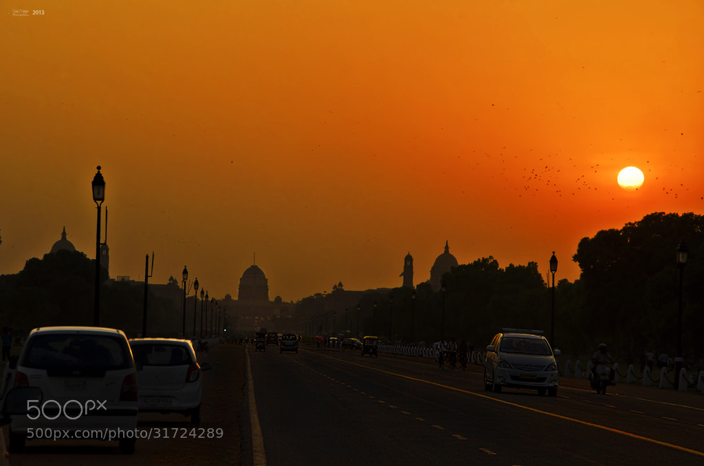Photograph Rashtrapathi Bhavan Sunset! by Sriram Natrajhen on 500px