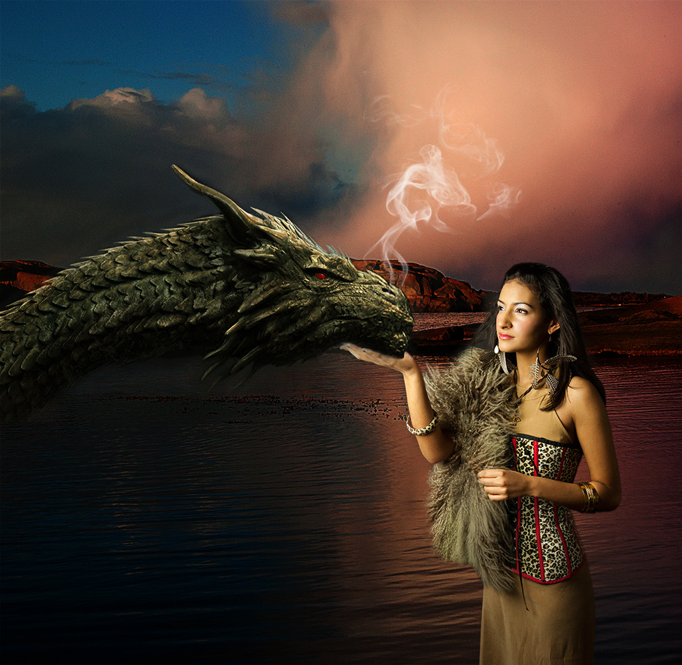Photograph Sara and the dragon by Ann Kheder on 500px