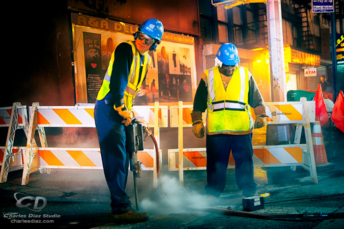 Photograph Two Con Edison employees by Charles Diaz on 500px