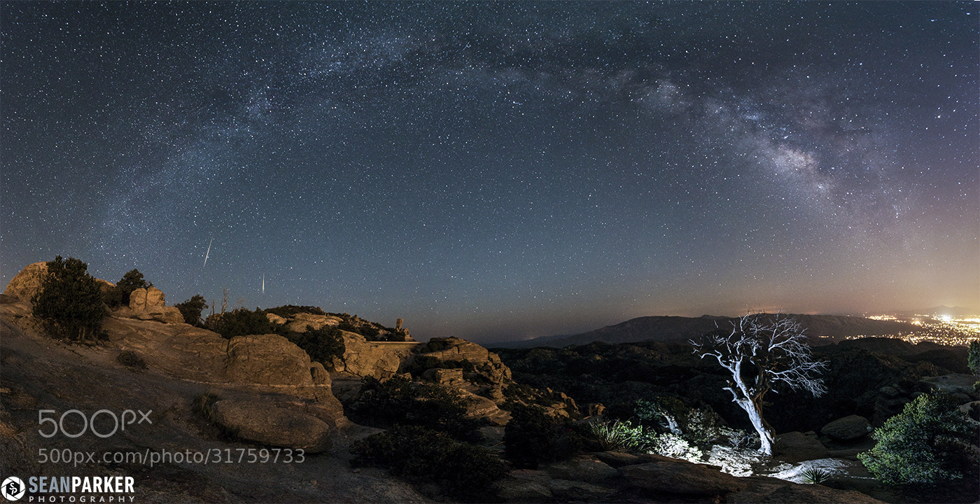 Photograph Lyrids Over Windy Point Vista by Sean Parker on 500px