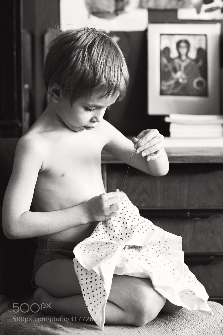Photograph Sewing boy by Lena K. on 500px