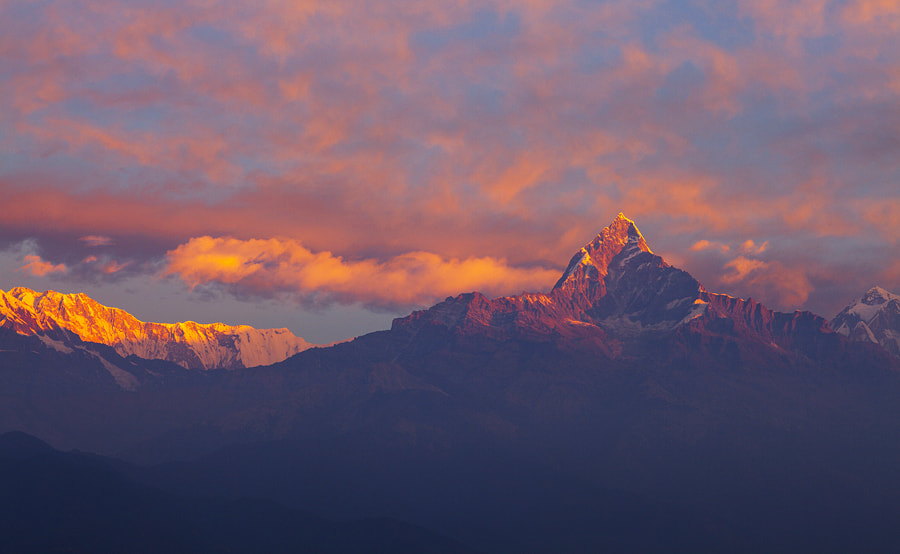 Photograph Sunrise in the Himalayas by Sam Dobson on 500px
