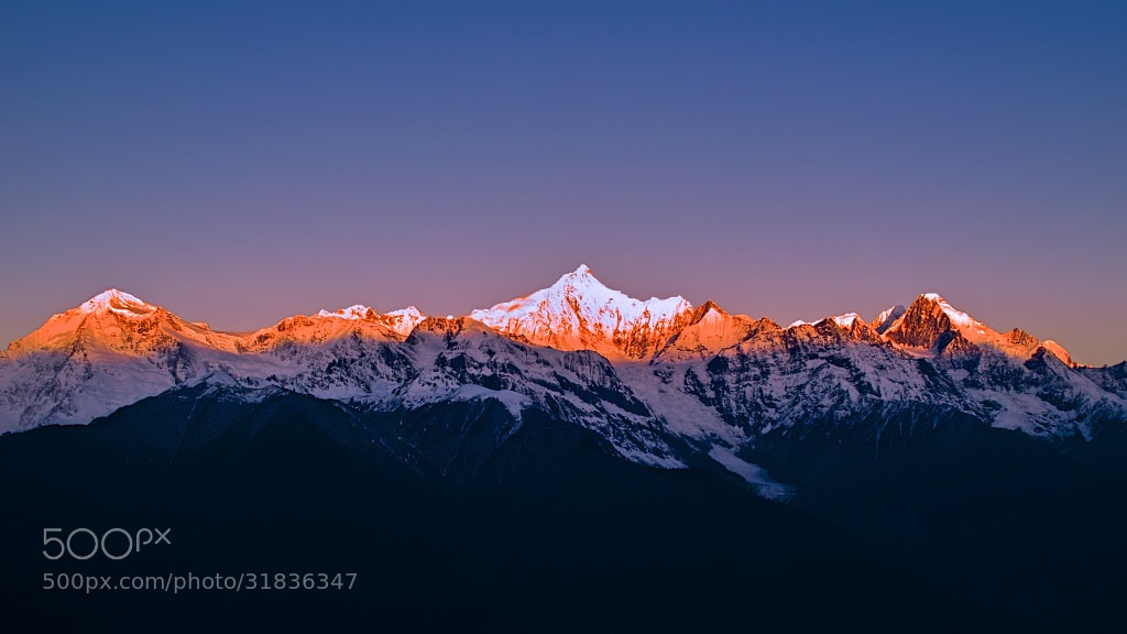 Photograph The Snow Mountain of Sunrise,Part 2 by 林 鹏程 on ...