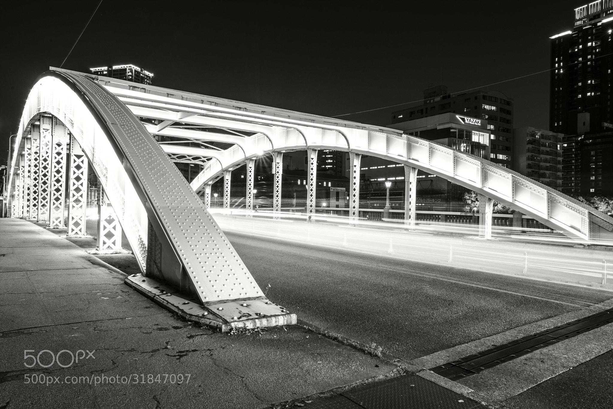 Photograph White lights bridge by hugh dornan on 500px