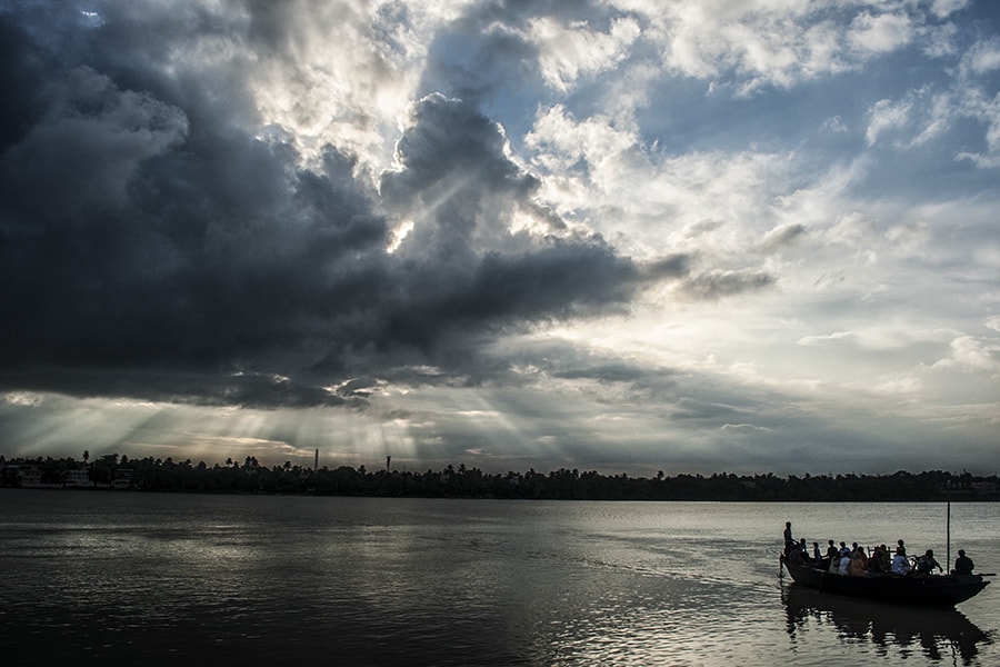 Photograph Day's Last Ferry by Sourik Ghosh on 500px