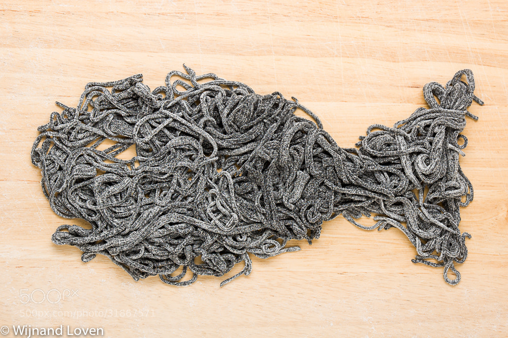 Photograph Fish made of black pasta by Wijnand Loven on 500px