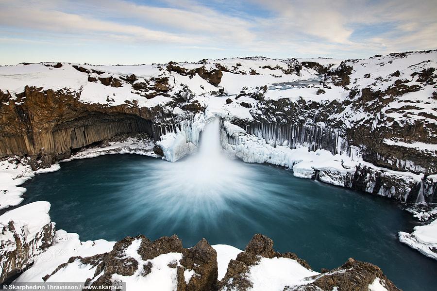 Photograph Aldeyjarfoss in Skjálfandafljót - North Iceland by Skarpi Thrainsson on 500px