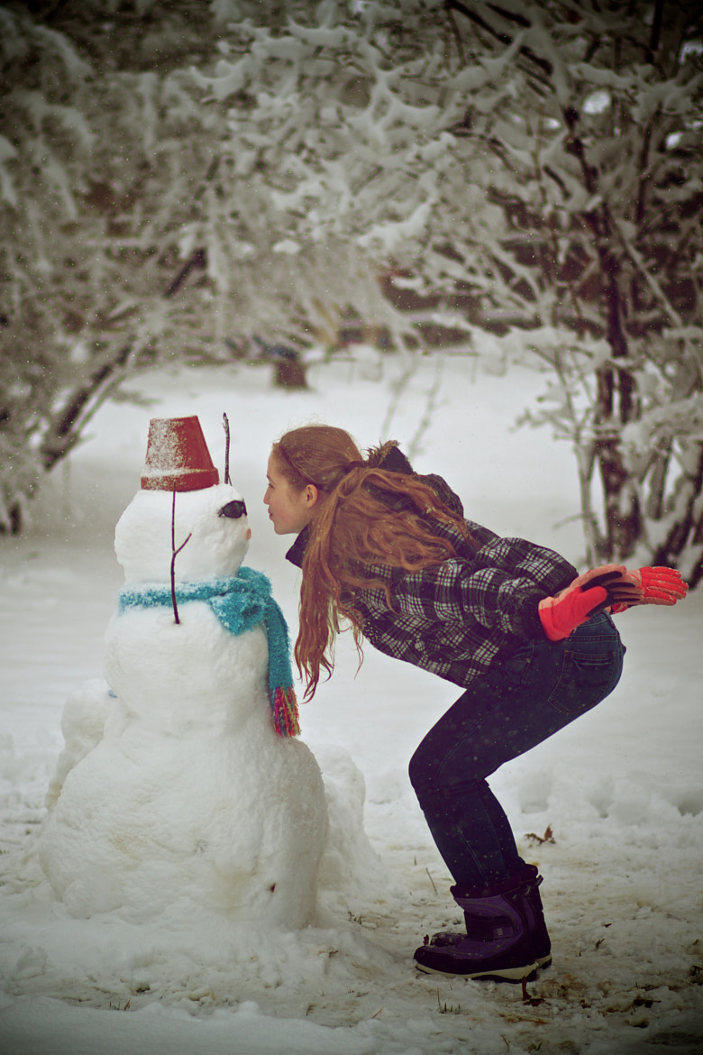 Photograph SnowMan steals a kiss! by mitch aunger on 500px