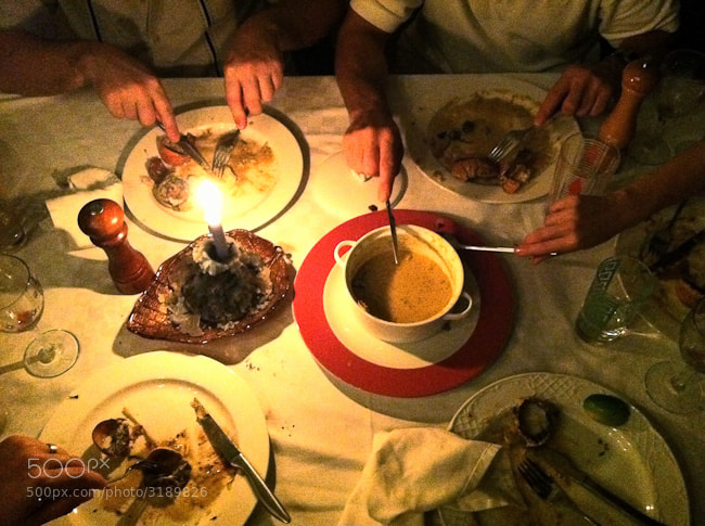 This was an amazing meal in Havana, all shared by everyone at the table by candle light.