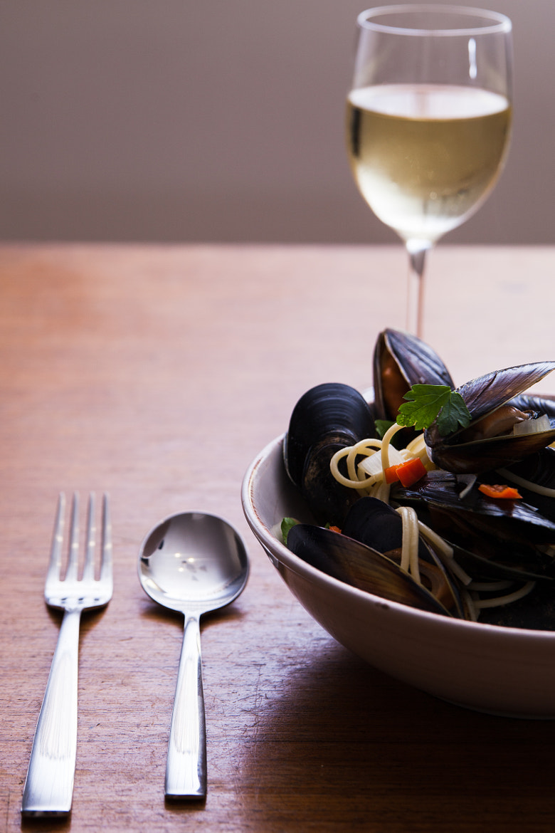 Photograph Mussels with white wine sauce and spaggeti by Grant Kennedy on 500px