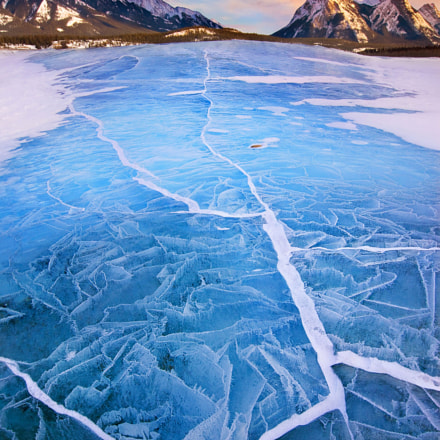 Lake Abraham in Winter