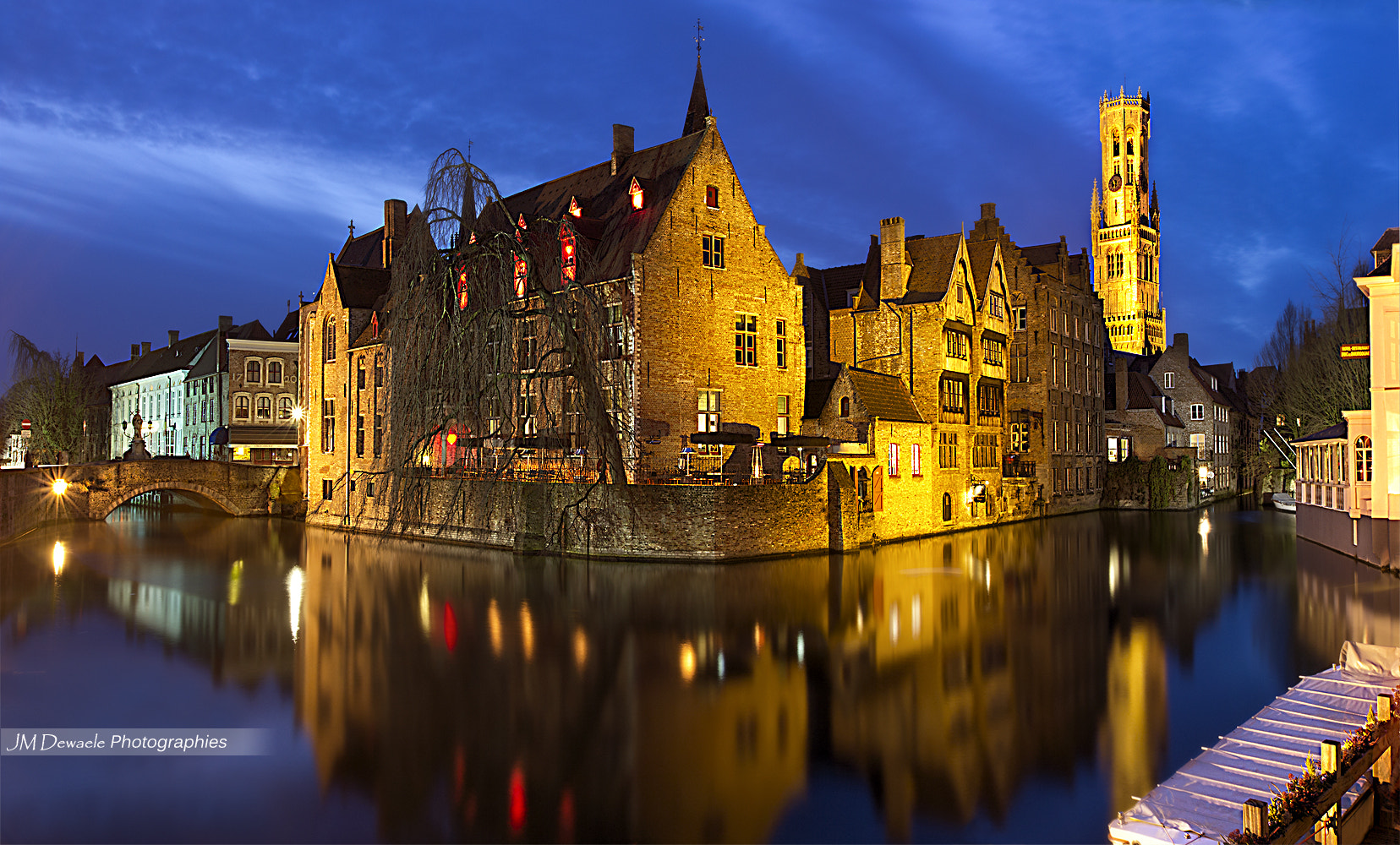 Photograph Blue hour in Bruges by Jean Marc Dewaele on 500px