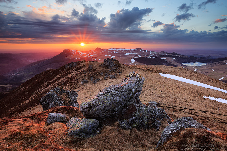 Photograph Sunset from the Puy de la Tache by Maxime Courty on 500px