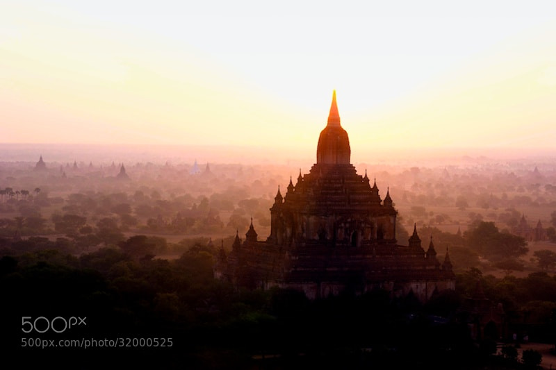 Photograph Bagan morning light by Marco Palmer on 500px