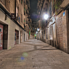 lonesome street in Barcelona, Spain