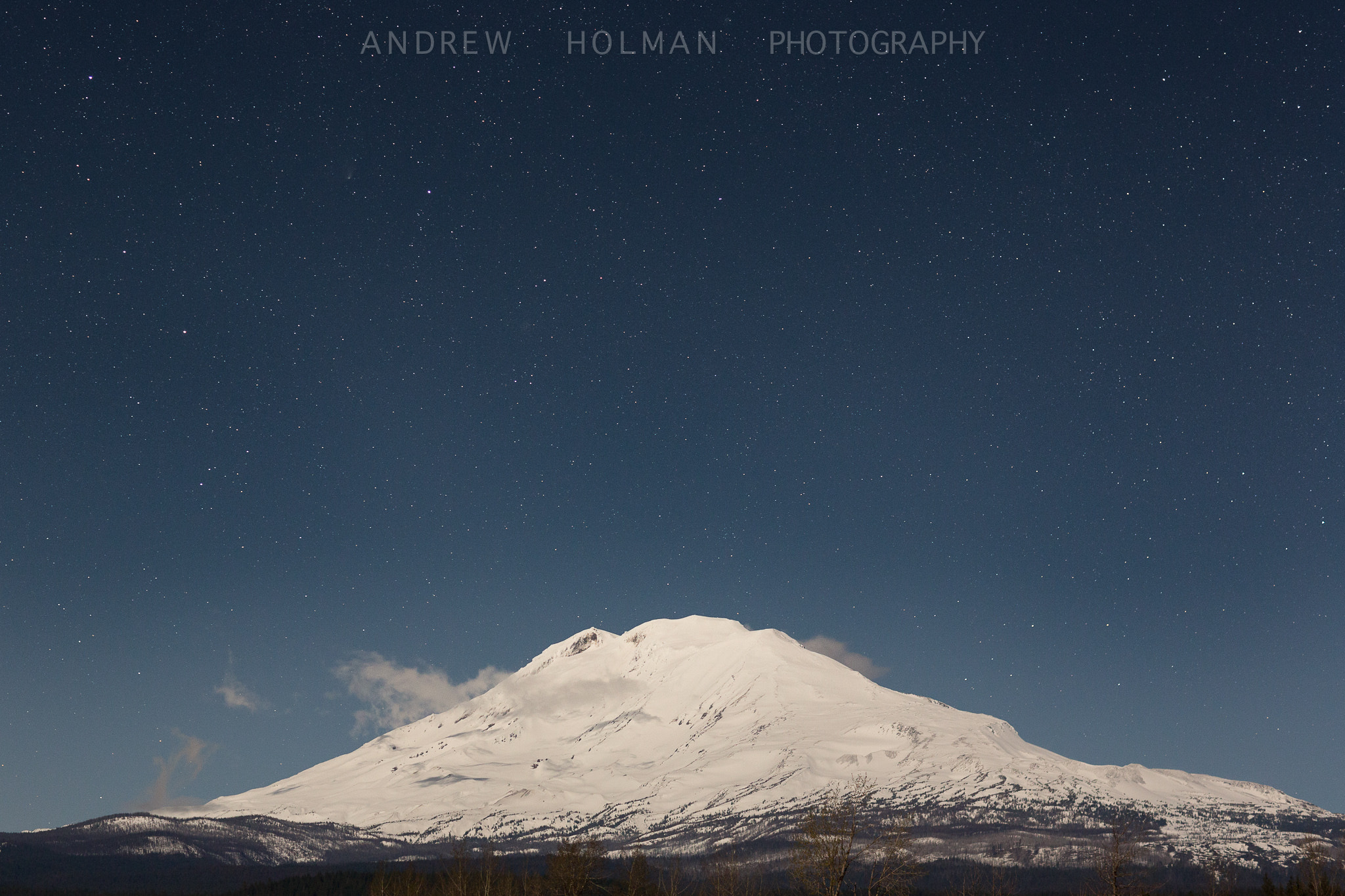 Photograph Mt Adams by Moonlight by Andrew Holman on 500px