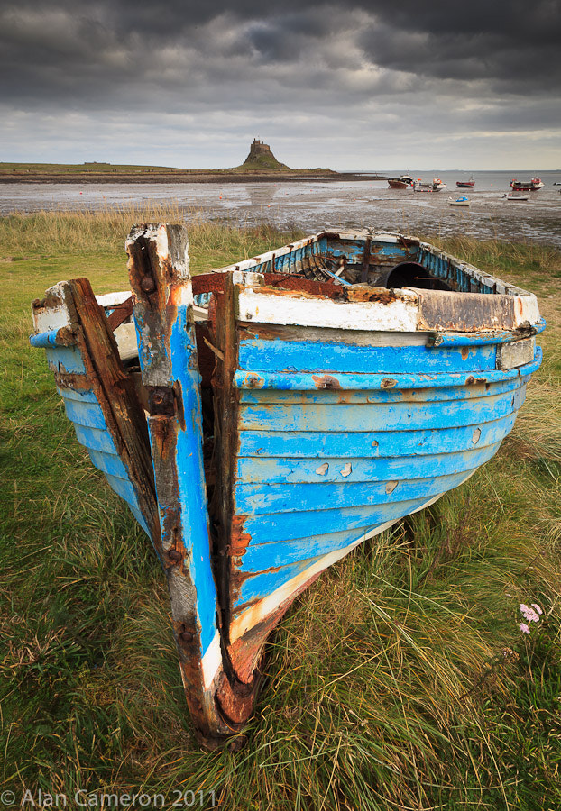 Photograph Blue wreck, Lindisfarne by Alan Cameron on 500px