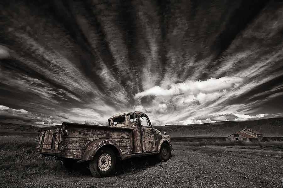 Photograph Old Truck (mono) by Þorsteinn H Ingibergsson on 500px
