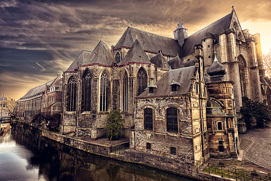 Photograph Sunset over Sint-Michielskerk by Alyaksandr Stzhalkouski on 500px