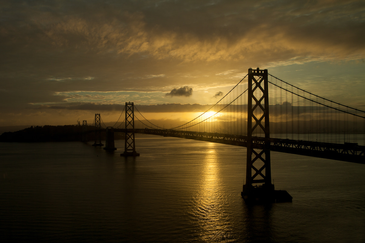 Photograph Sunrise over the Bay Bridge by Lisa Bettany on 500px