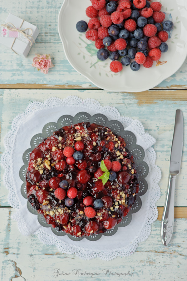 Photograph Pie with berries by Galina Kochergina on 500px