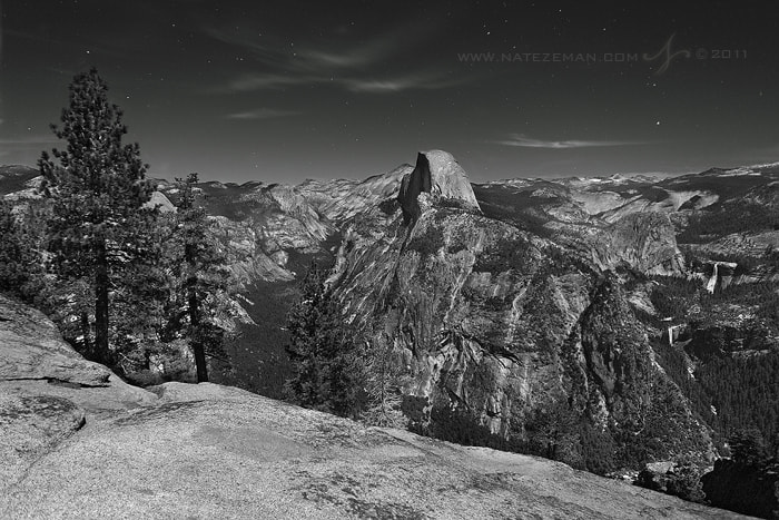 Photograph Half Dome by Moonlight by Nate Zeman | natezeman.com on 500px