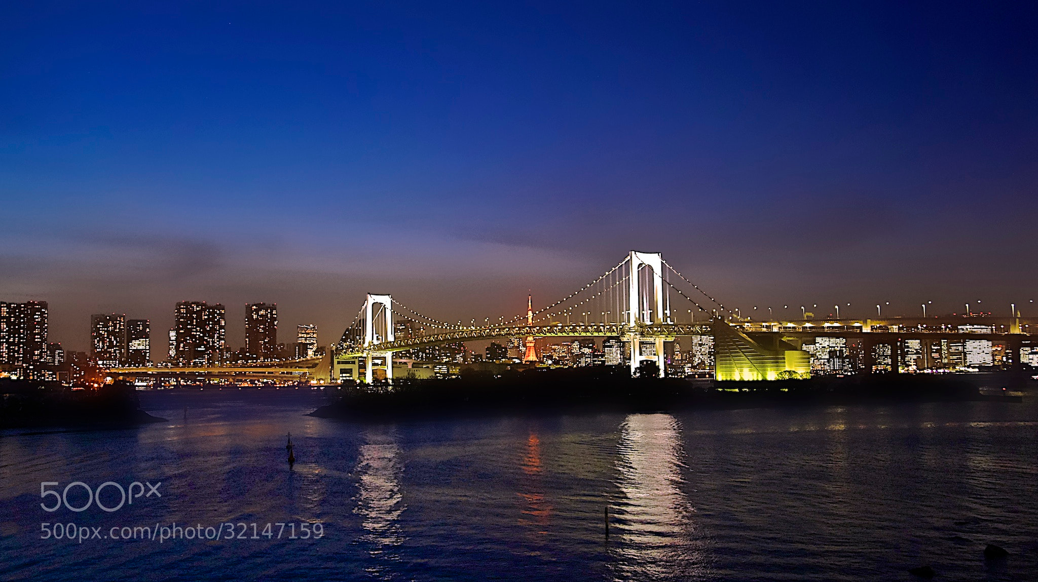 Photograph Tokyo By Night from Odaiba Island by Karim Kanoun on 500px