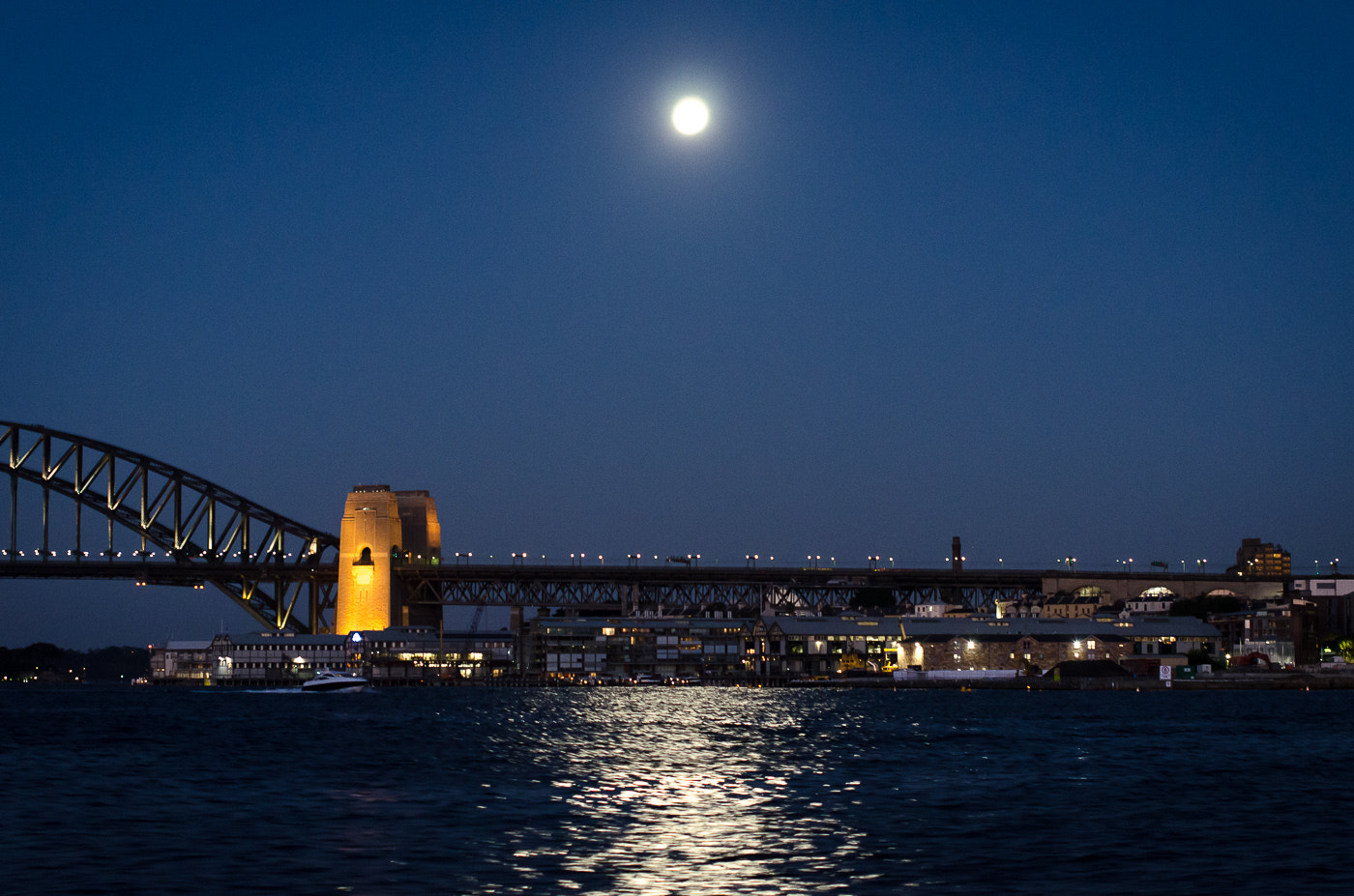 Photograph Sydney harbour + full moon by zed1 on 500px