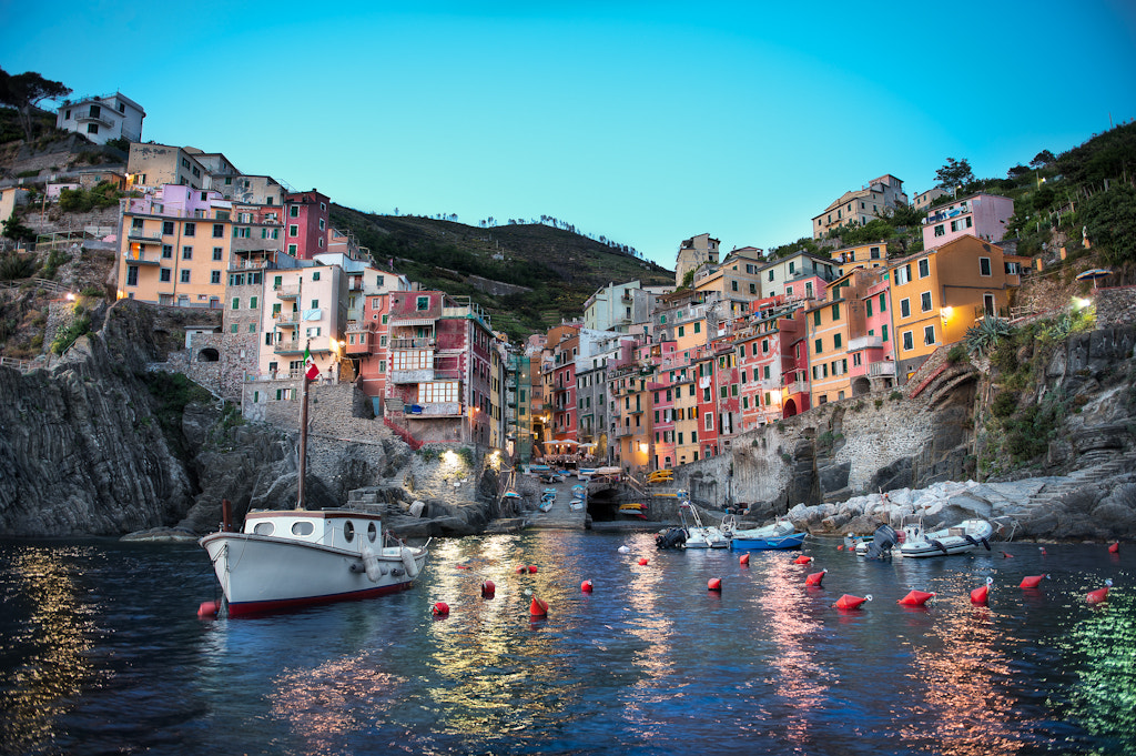 Photograph Riomaggiore At Dusk - Cinque Terre by Elia Locardi on 500px