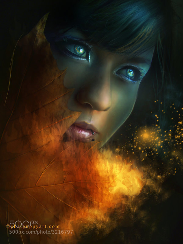 Photograph Tifa's Flame by Phatpuppy Art on 500px