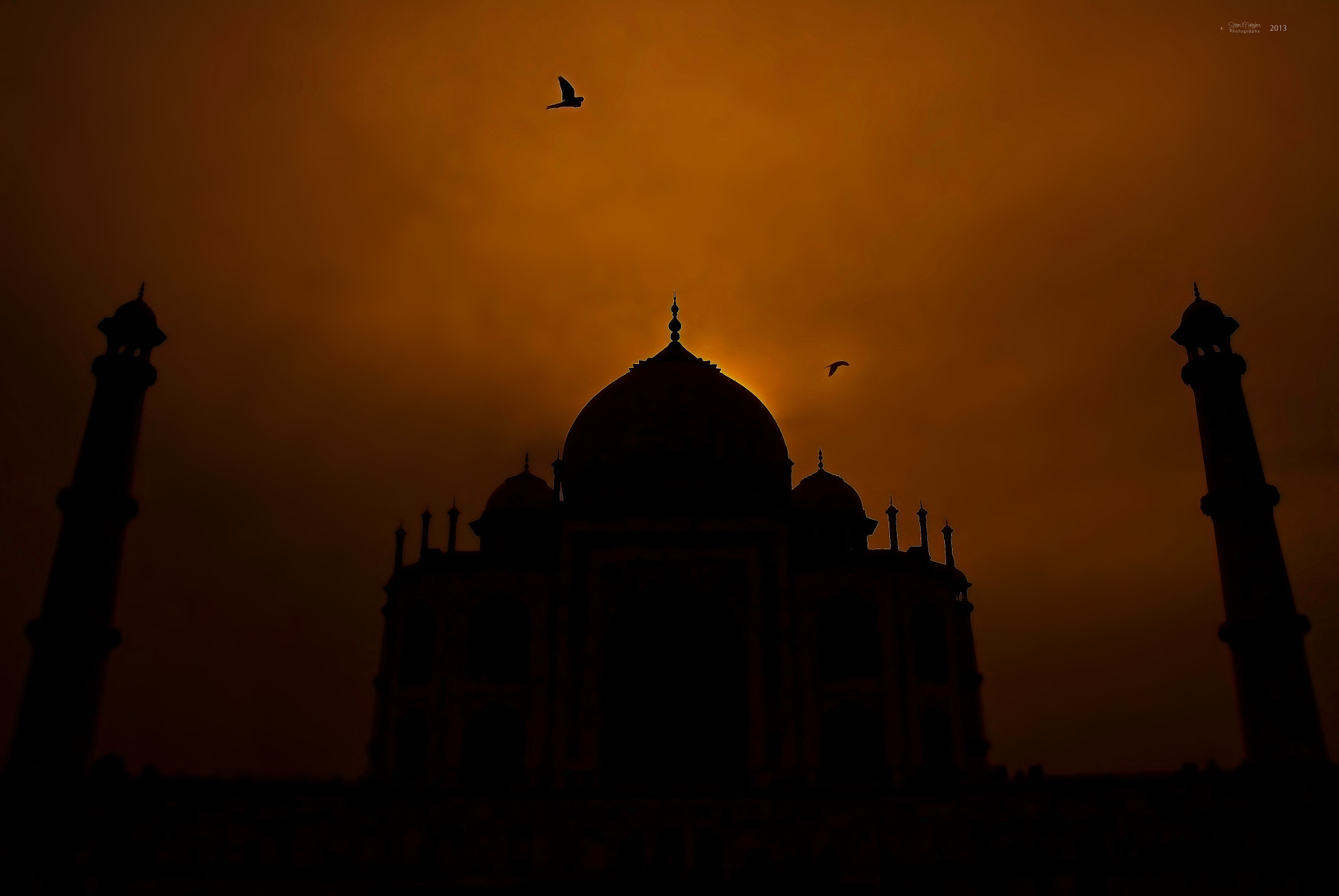 Photograph Sunset Taj Mahal by Sriram Natrajhen on 500px