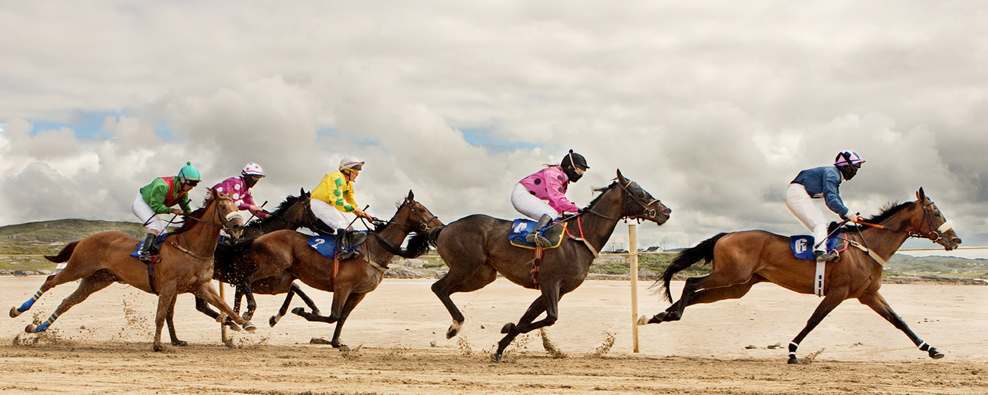 Photograph Omey Island Horse Racing by Anne Francis-Nee on 500px