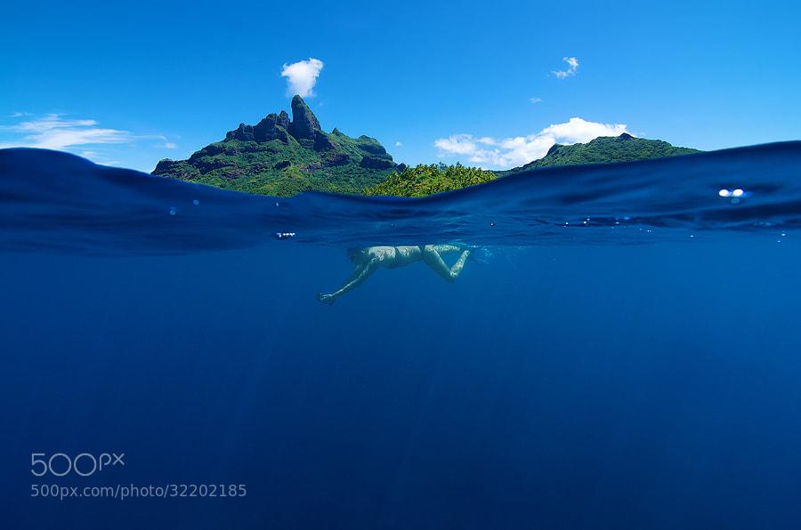 Snorkeling Under Otemanu