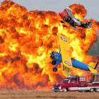 "Skip Stewart, John Mohr & Les Shockley perform their ""Tin Stix of Dynamite"" at the 2011 NAS Pensacola Homecoming Airshow"