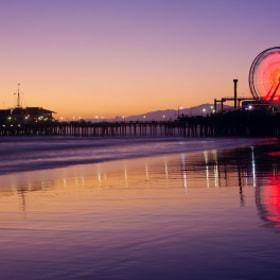 Santa Monica Pier Sunset por Lisa Bettany (lisabettany) on 500px.com