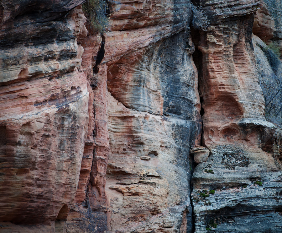 The nine exposed geologic formations in Zion National Park are part of a super-sequence of rock units called the Grand Staircase. Together, these formations represent about 150 million years of mostly Mesozoic-aged sedimentation.