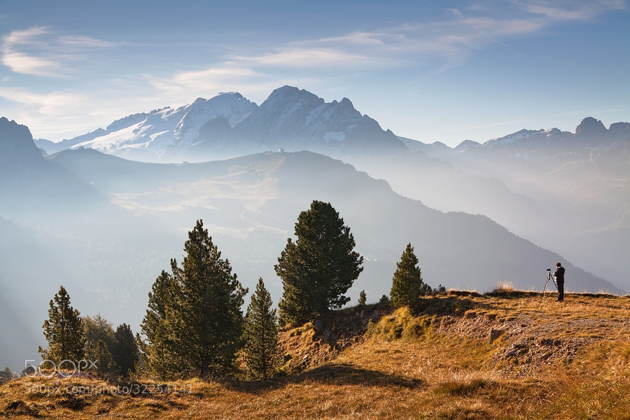 Photograph Morning in Passo Sella  by Daniel Řeřicha on 500px