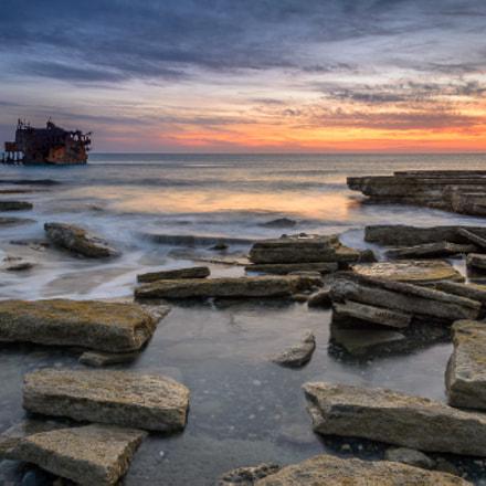 Shipwreck in Akrotiri